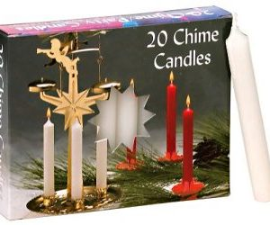 short tapers, chime candles