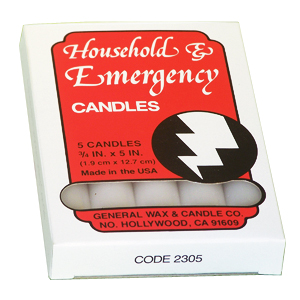 short household utility taper candles