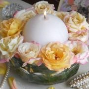 ball candle centerpiece