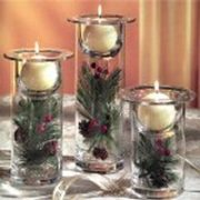 Ball candles used in glass cylinders
