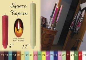 square taper candles