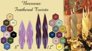 beeswax feathered twist candles