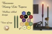 Beeswax Honey Lite Taper Candles