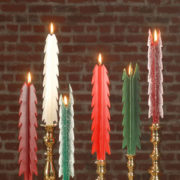 beeswax tree taper candles, Christmas candles