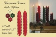 beeswax tree taper candles