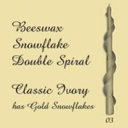 Beeswax Snowflake Double Spiral Taper Candles
