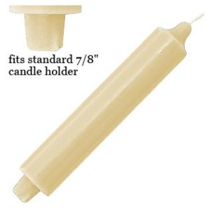 club taper candles, 1.5inch diameter, 9inch tall