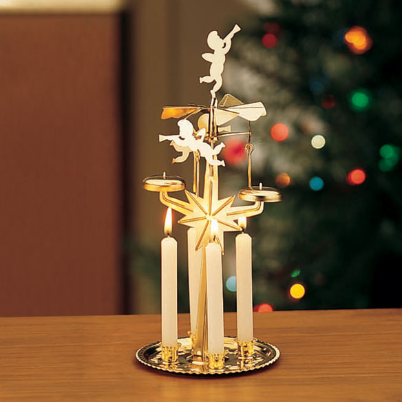 Revolving Candle Powered Chimes, Christmas Angel, Party Chimes ...