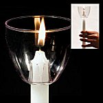 wind protector wax drip catcher for vigil candles
