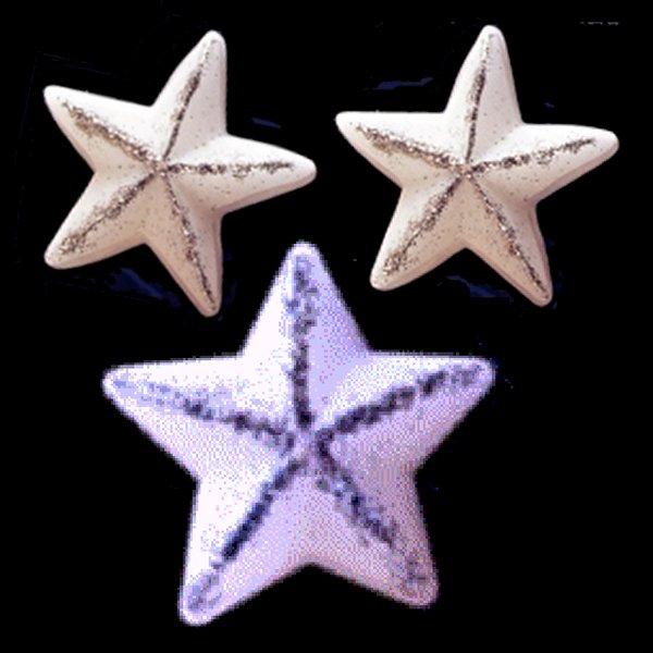 Glitter wax stars